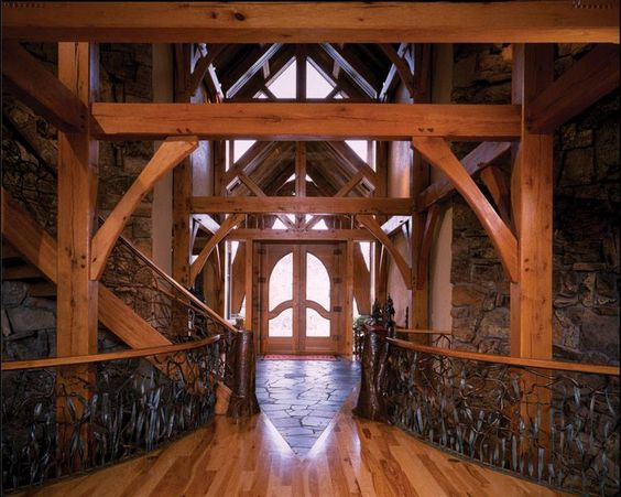 a fabulous timber frame entry by tfbc member riverbend timber framing