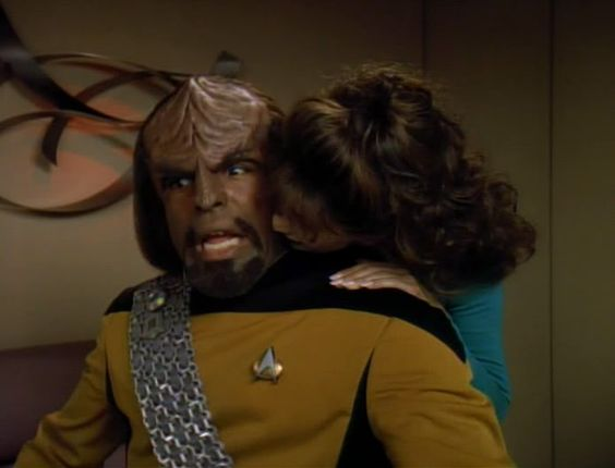 Worf's having fun