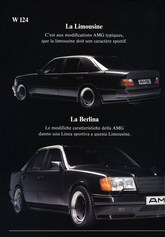 Mercedes benz e class w124 amg brochure mercedes for Mercedes benz e class brochure