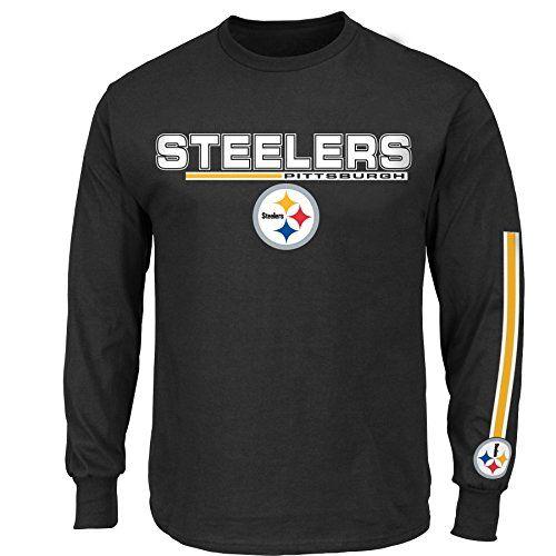 NFL Pittsburgh Steelers Men's UVH Tee, Black, XX-Large