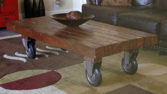 Wheels diy coffee table and 4x4 on pinterest for Coffee tables 4x4