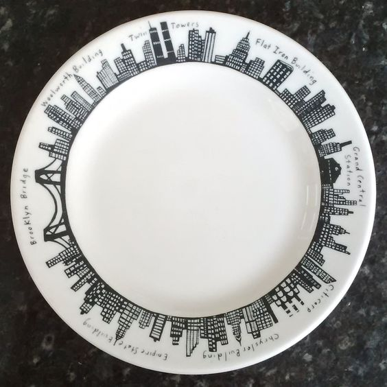 New york city plate by homer laughlin china made for Fishs eddy dinnerware