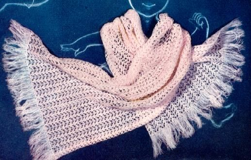 Knit Stole for little girl.