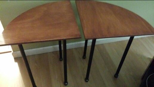 Industrial end tables. .made these myself. .easy breezy