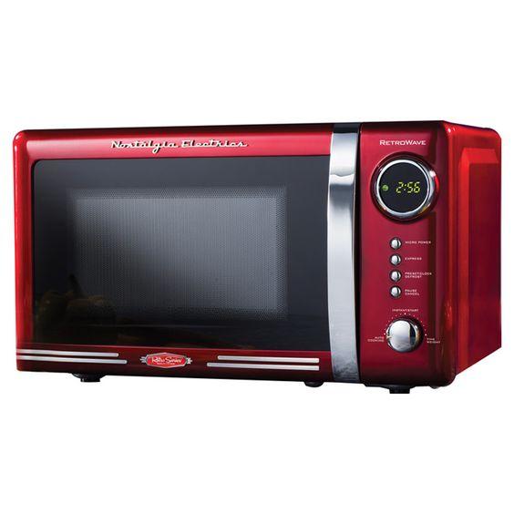 Nostalgia Electrics 0.7 Cu. Ft. 700W Retro Series Countertop Microwave Oven & Reviews   Wayfair