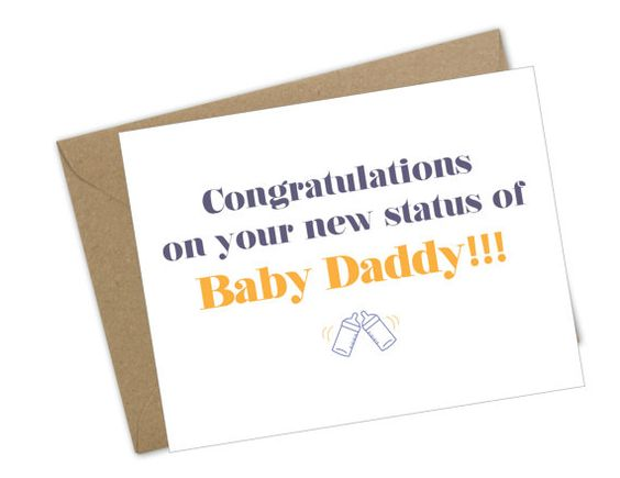 New Father Congratulations card Baby Daddy Congrats Funny humor - congratulation letter
