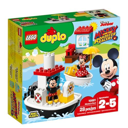 Disney S Mickey Mouse Lego Duplo Mickey S Boat Set 10881 Lego Duplo Lego Disney Disney Characters Mickey Mouse