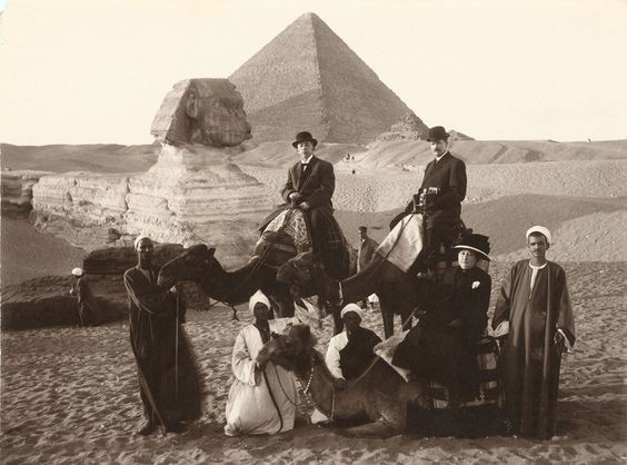 Mr. and Mrs. Louis Bailey Audigier of Knoxville at Great Sphinx