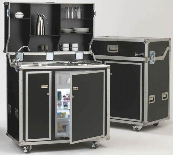pro art kitcase Kofferküche mit Kühlschrank