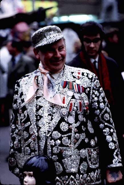 Burt Glinn  ENGLAND. London. 1969. 'Cockney Pearly king in the East End of London'.