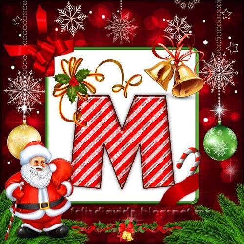 Iniciales Nombres Y Más Iniciales Navideñas A A La Z Letras Feliz Navidad Imagenes De Feliz Navidad Fuentes De Navidad