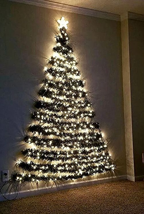 110 Cheap And Easy Diy Christmas Decor Ideas That Proves Elegance Is Not Expensive Hike In 2020 Wall Christmas Tree Diy Christmas Decorations Easy Easy Christmas Diy