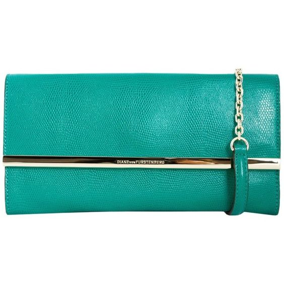 Diane Von Furstenberg Clutches (845 RON) ❤ liked on Polyvore featuring bags, handbags, clutches, verde, diane von furstenberg purse, blue purse, diane von furstenberg, diane von furstenberg clutches and diane von furstenberg handbags