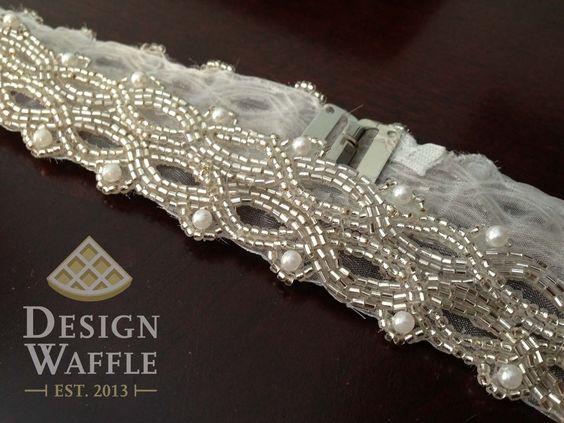 diy beaded wedding dress belt ps it s much easier