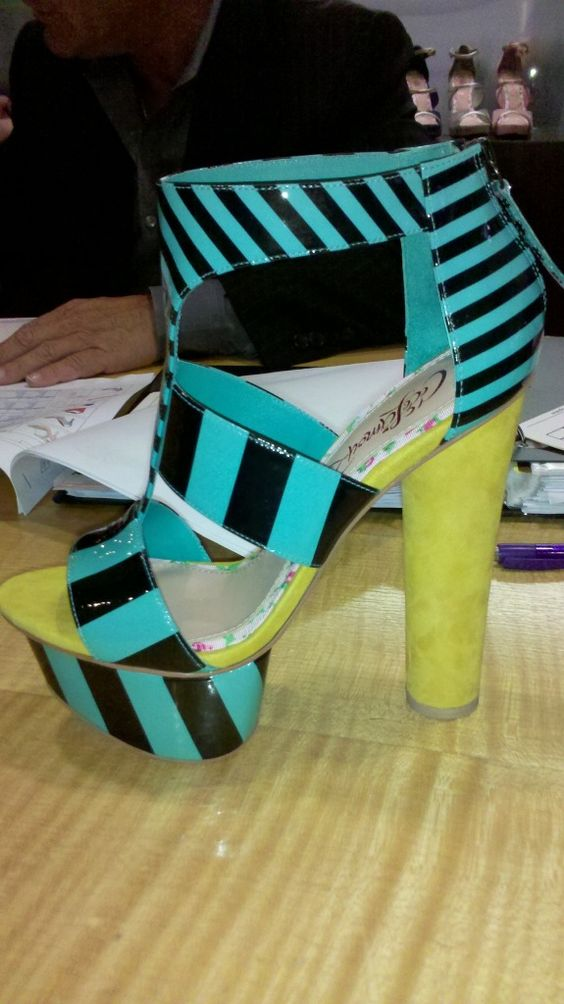 From CeCe Lamour - Bold Colorblocked Striped Sandals