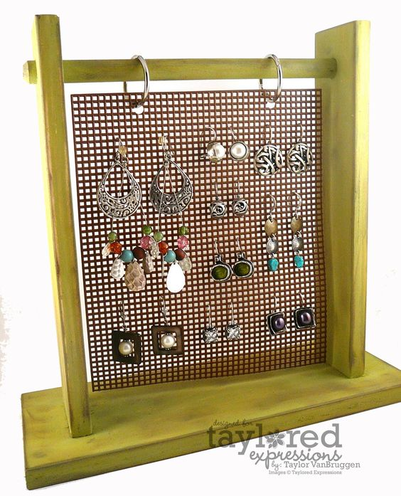 Earring Holder Purchased A Really Inexpensive Sheet Of
