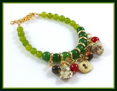Suze likes, loves, finds and dreams: Giveaway: Green Agate, Tiger Eye & Natural Gemstone Bracelet