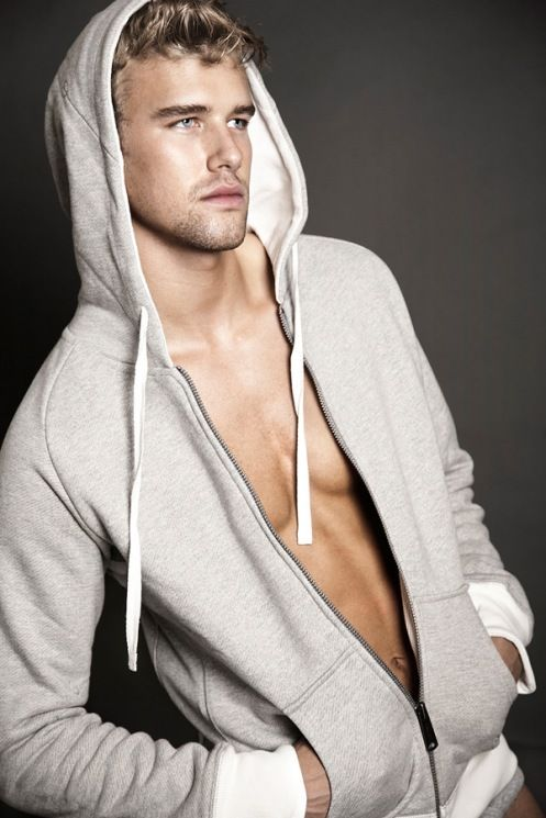 male models hot male models and more grey hoodie blonde male models ...