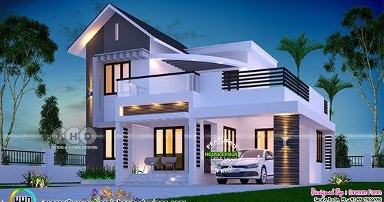 4 Bedroom 1650 Square Feet Budget Friendly House In 2020 Kerala House Design Model House Plan Architectural House Plans