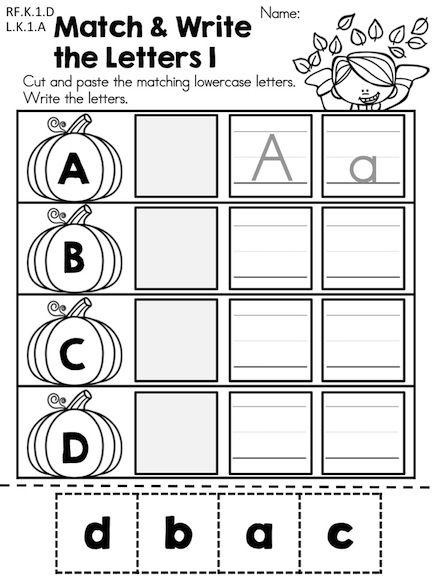 math worksheet : autumn kindergarten no prep language arts worksheets  language  : Language Arts Worksheets Kindergarten