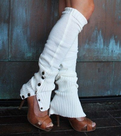 white leg warmers-i miss leg warmers. these are something i think i could perhaps get away with now..perhaps..