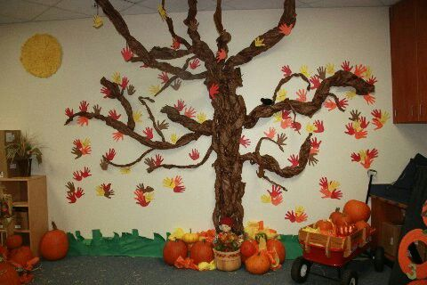 This was last year's kindergarten dramatic play pumpkin patch.