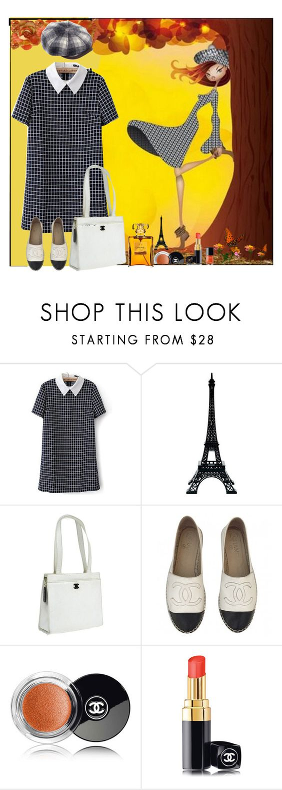 """""""Plaid"""" by oleahg ❤ liked on Polyvore featuring Merci Gustave!, Chanel and Stetson"""