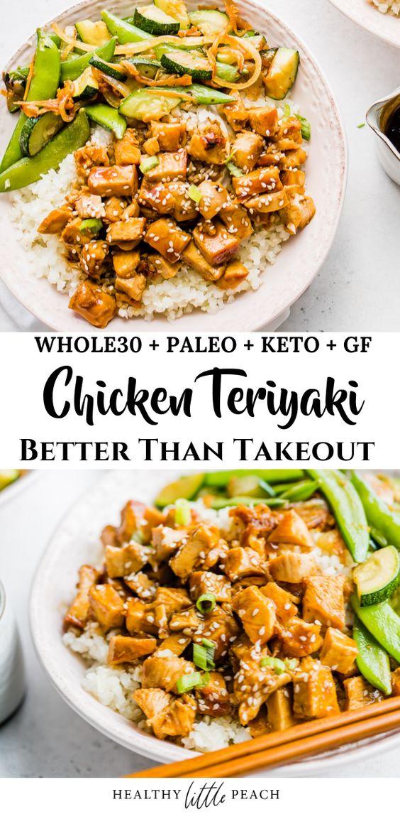 Whole30/Keto Chicken Teriyaki Stir Fry Bowls