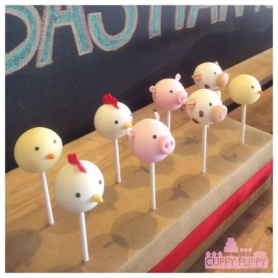 How To Make Farm Animal Cake Pops
