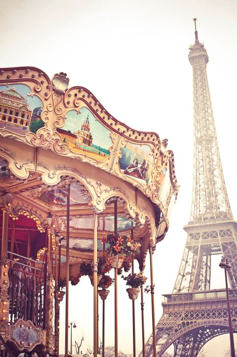 Eiffel Tower and Carousel, Paris, France #tripsta