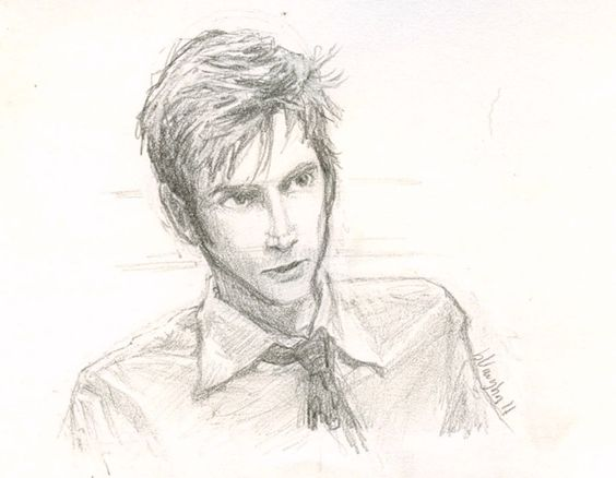 """Love the artist's description of this drawing! """"...the strange thing about Tennant is that i didn't find him attractive in the slightest... until i saw him act..."""""""