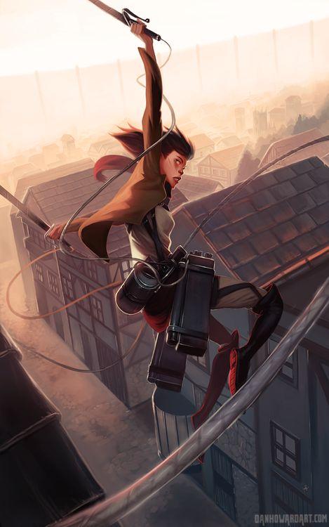 danhoward:  Mikasa from Attack on Titan (Shingeki no Kyojin)....
