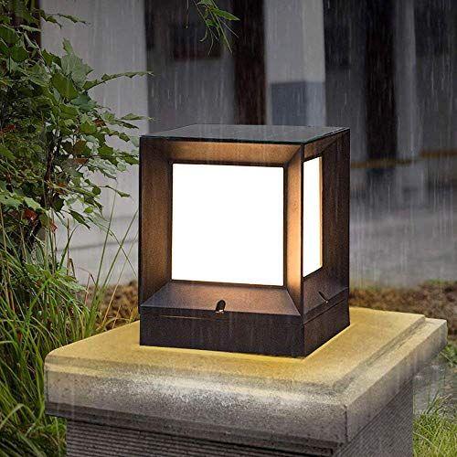 Hines Retro Europeo E27 Giardino In Alluminio Paesaggio Prato Inglese Cinese Lanterna Di Vetro Esterno Lampada Da Tavolo Lampade Da Tavolo Recinzione Lanterna