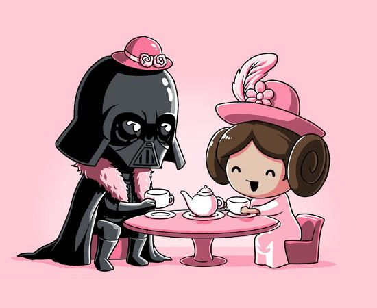 Darth Vader & Princess Leia Star Wars Tea Party T-Shirt: