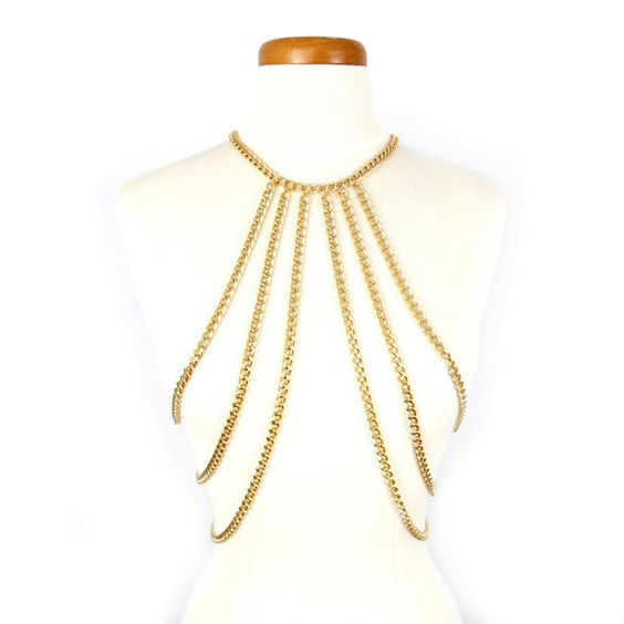 Candra Body Chain Harness SA494 by SultryAffair on Etsy, $50.00