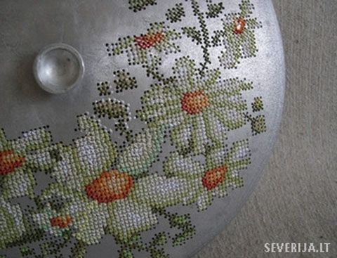 cross stitch metal: