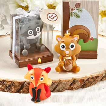 Woodland Animal Candle Favors
