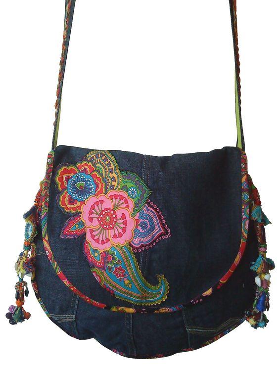 Reciclado Bolsas, Reciclar Jeans, Bags Bolsos Carteras, Bolsos Trapillo, Bolso Hippie, Mezclilla, Malas, Mochilas, Costura