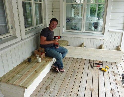 Bygga Bänk Med Förvaring Altan U2013 Vindskydd Balkong