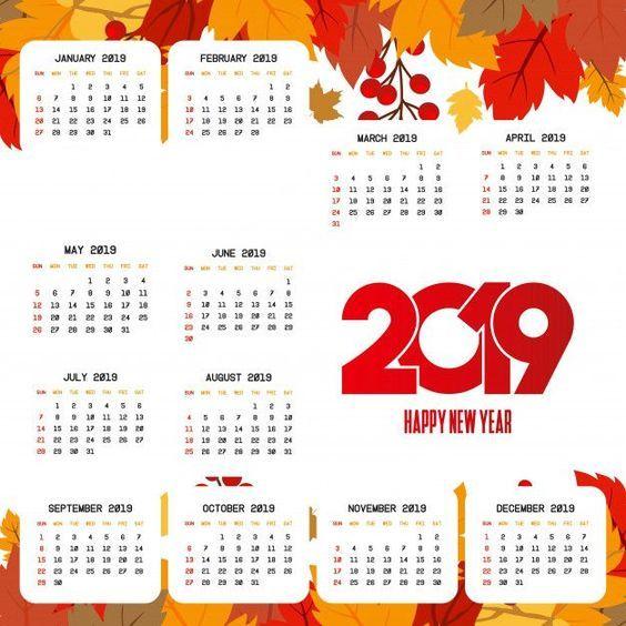 Calendarios 2019 Originales Imagenes Para Whatsapp Calendar Design Calendar 2019 Calendar