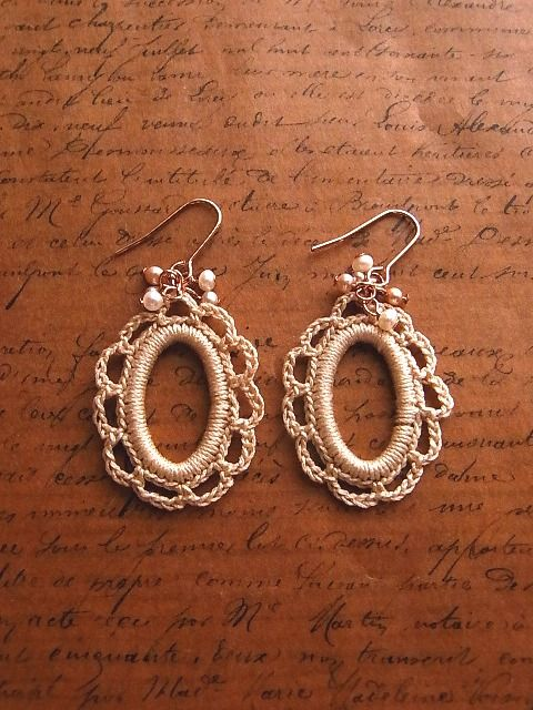 crochet earrings: