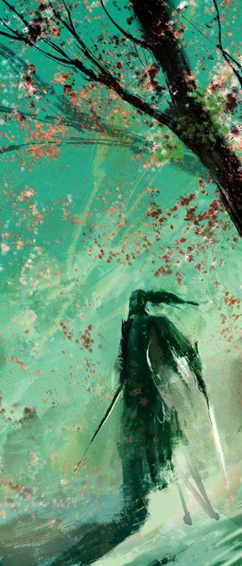 Samurai With Cherry Blossoms, by Joe Watmough.: