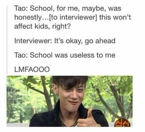 <3 TAO IS SERIOUSLY MY SPIRIT ANIMAL AND I LOVE HIM SO MUCH XD <3
