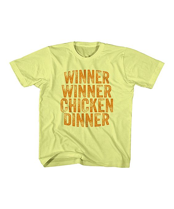 Banana 'Winner Winner Chicken Dinner' Tee - Kids & Tween by American Classics #zulily #zulilyfinds