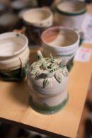 Heugemono Teacup by Mr. WADA, Keizan Kiln, Oroshi, Toki, Gifu, JAPAN.