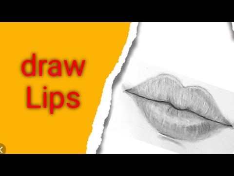 تعليم الرسم بالرصاص رسم الفم بطريقة سهلة للمبتدئين How To Draw Lips Easy Way Youtube Lips Drawing Pencil Sketch Draw