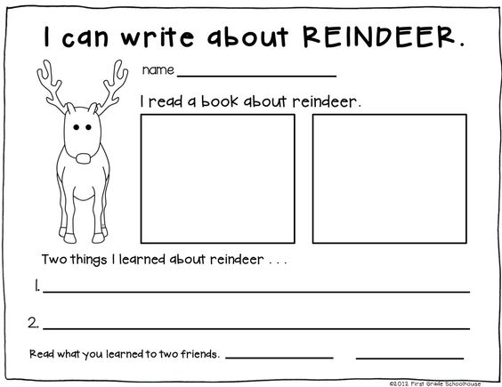 Christmas Worksheets For 1st Graders : Christmas writing activities for first graders