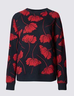Pure Cotton Tulip Print Sweatshirt