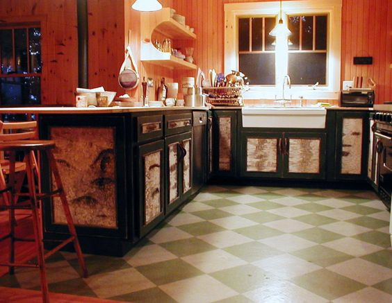 Bark Cabinets Camp Cabinets And More Rustic Kitchens Rustic Kitchens