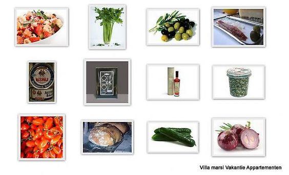 Panzanella _ 25min. | Italiaans | Salades | Hartig _ Een traditionele salade uit Toscane om het overgebleven brood te verwerken. 900 gr oud, boerenbrood in stukken gesneden 250 ml rode wijn-azijn 6 pomodori 3 rode uien, 2 komkommers, eetlepel kappert...